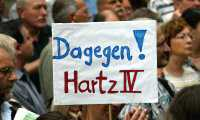 dagegen - Gegen Hartz IV: Aktion Zahltag in Köln