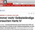 Guido Westerwelle braucht Hartz IV?