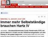 bildzeitung hartz iv - Guido Westerwelle braucht Hartz IV?