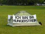 Hartz IV Betroffener im Hungerstreik