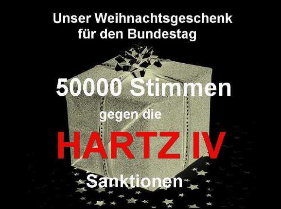 sanktionen geschenk - Geschafft! Über 50.000 gegen Hartz IV Sanktionen