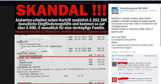 pro nrw - Mit Hartz IV gegen Asylbewerber hetzen