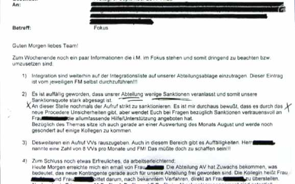 sanktionsqoute - Beweise für Hartz IV Sanktionsquoten