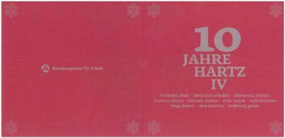 ba karte - BA verschickt Hartz IV Jubelkarte