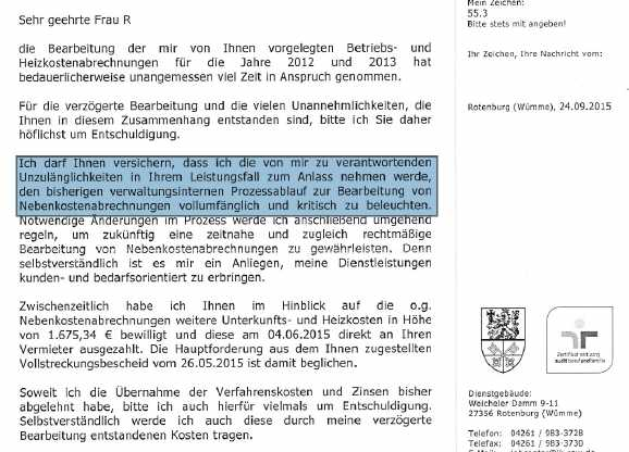 brief jobcenter - Jobcenter entschuldigt sich: Gegen-Hartz.de wirkt