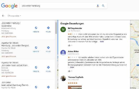 bewertungen jobcenter hh - Lassen Jobcenter Bewertungen löschen?