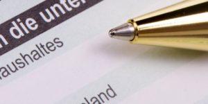 Antrag Formular für das Jobcenter