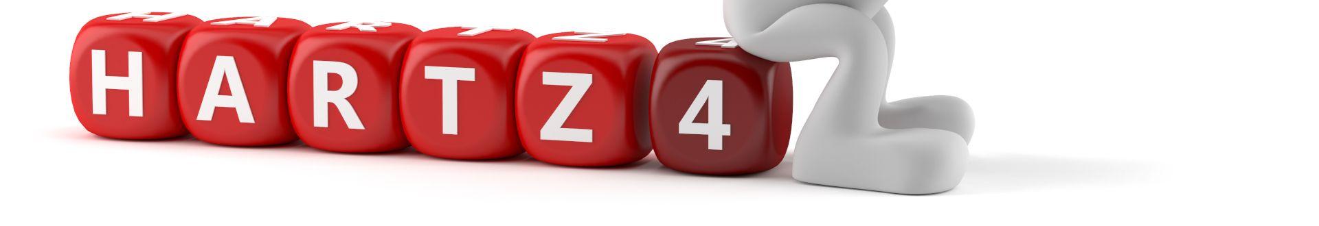 Hartz 4 Schriftzug - LSG: Hartz-IV-Beziehern soll die Rente mit Abschlägen zuzumuten sein