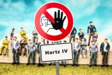 Hartz IV Schild