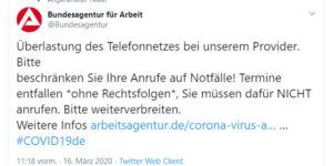 Hartz IV: Jobcenter dicht, Telefone nicht erreichbar