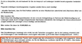 nachweis musikschule 275x150 - Hartz IV: Jobcenter drohen wegen Teilhabeleistungen mit einem Leistungsentzug