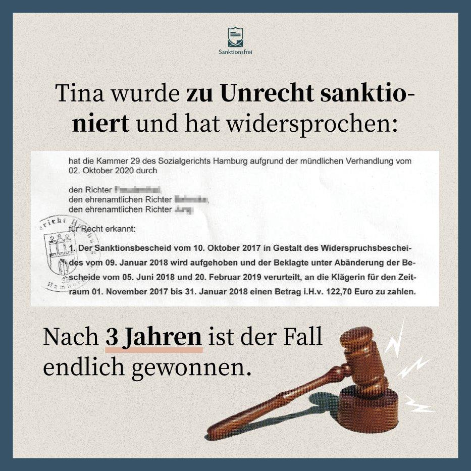 sanktionsfrei - Hartz IV: Nach 3 langen Jahren gegen das Jobcenter gewonnen