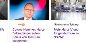 """""""Corona-Hammer"""" und """"Hartz IV-Bonus"""" - so spielen Medien mit Hoffnungen der Menschen"""