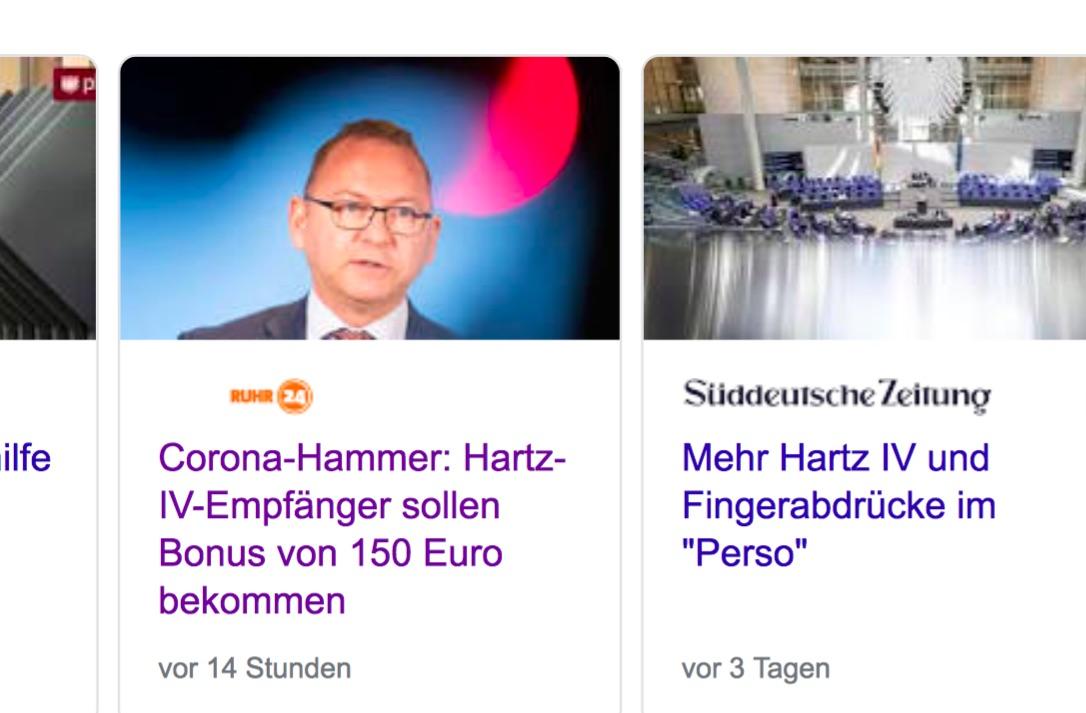 """medien corona zuschlag - """"Corona-Hammer"""" und """"Hartz IV-Bonus"""" - so spielen Medien mit Hoffnungen der Menschen"""